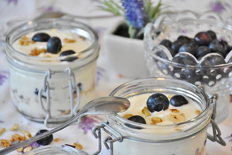 Blueberry Overnight Morning Oats
